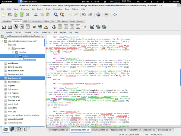 best free IDEs and Editors for programmers and designers - bluefish