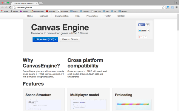 best HTML5 and javascript game engine libraries  - canvas-engine