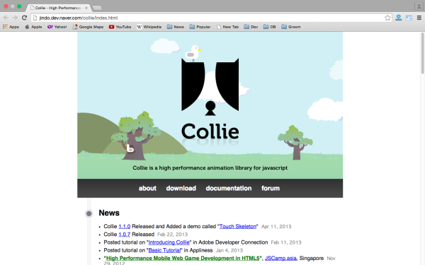 best HTML5 and javascript game engine libraries  - collie
