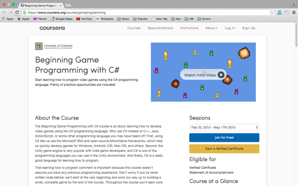 best online resources to learn about game development - coursera-gameprogramming