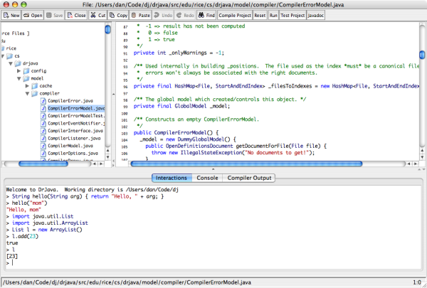 best free IDEs and Editors for programmers and designers - drjava