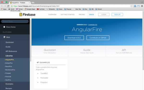 best angularJS tools for web developers for 2015 firebase
