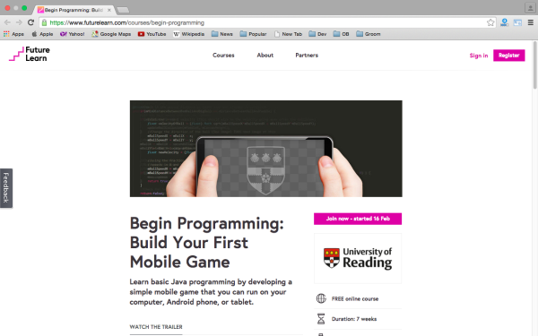 futurelearn-game-programming