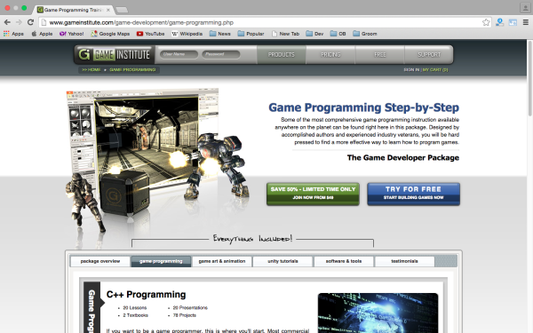 best online resources to learn about game development - gameinstitute