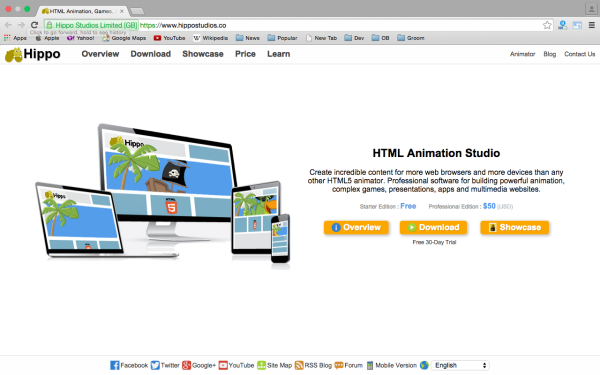 best HTML5 Animation Tools for designers  -hippostudio