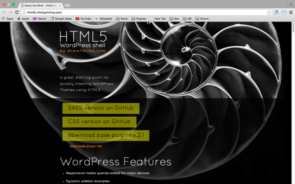 best free WordPress Theme Frameworks for 2015 - html5 shell