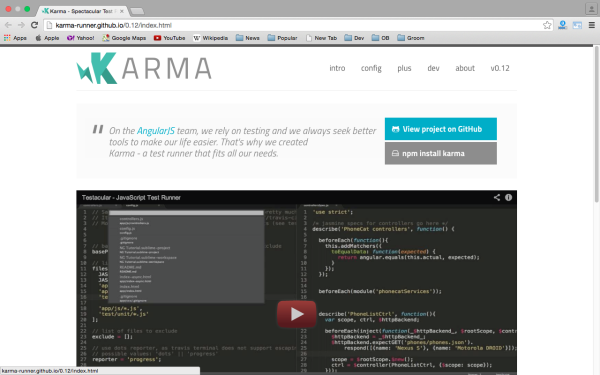 best angularJS tools for web developers for 2015 karma-angularjs