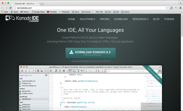 best free IDEs and Editors for programmers and designers - komodoide