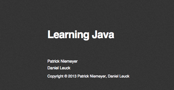 Best free programming books - learning-java