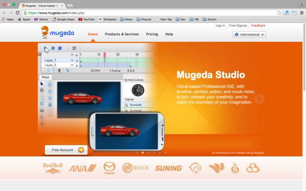 best HTML5 Animation Tools for designers  - mugeda