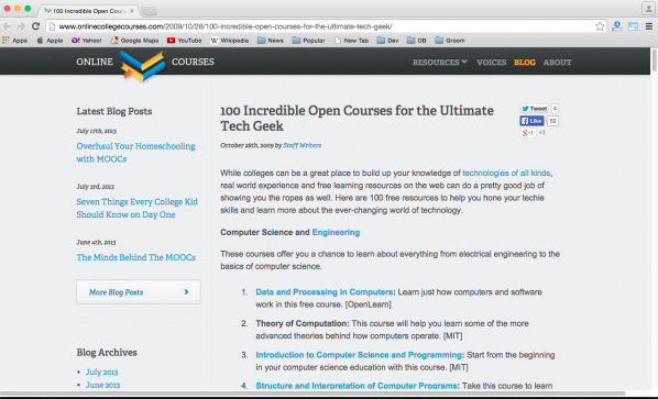 best online resources for learning programming - -courses