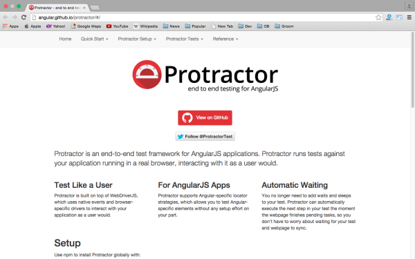 best angularjs tools for web developers for 2015 - protractor