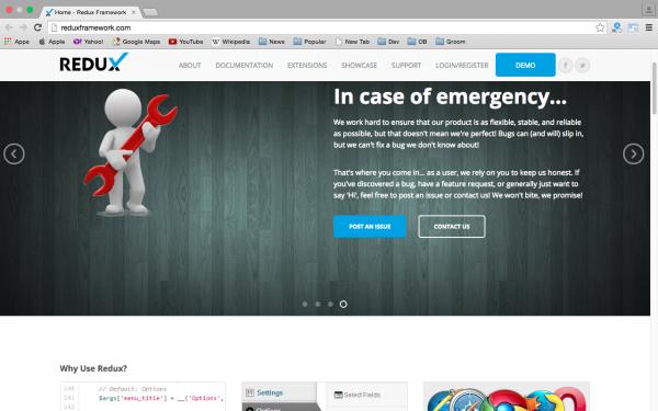 best free WordPress Theme Frameworks for 2015 - redux