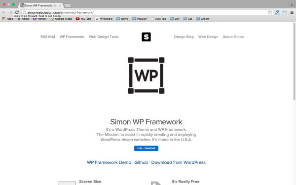 best free WordPress Theme Frameworks for 2015 - simon-wordpress