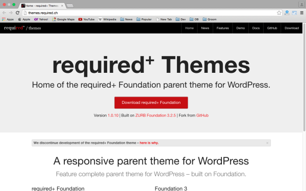 best free WordPress Theme Frameworks for 2015 theme-require