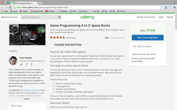 best online resources to learn about game development udemy-game-programming