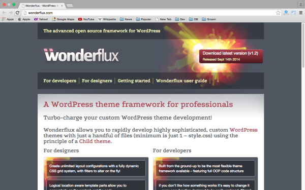 best free WordPress Theme Frameworks for 2015 wonderflux