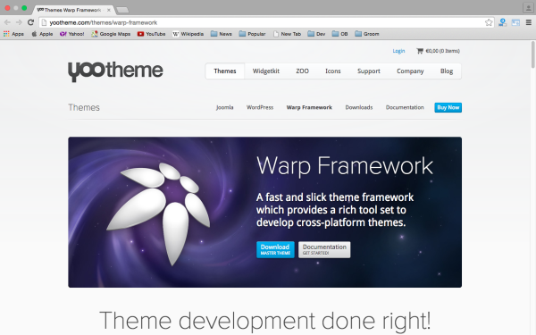 best free WordPress Theme Frameworks for 2015 yoothemeframework