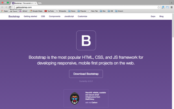 best tools and libraries for responsive web  - Bootstrap
