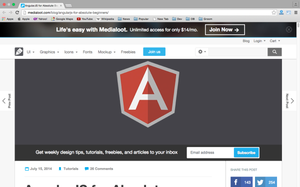 best resources and tutorials to learn AngularJS - angularjsforbeginners