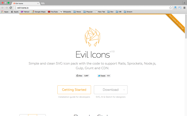 fresh best tools for year 2015 for web developers - evil-icons