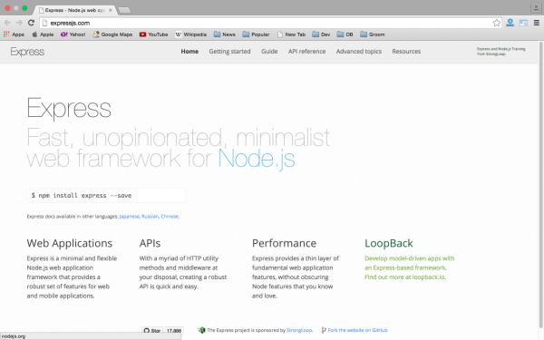 best node.js tools for year 2015 - expressjs