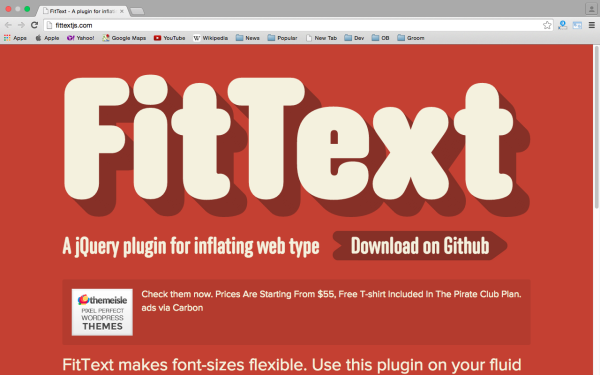 best libraries and tools for responsive web  fittextjs