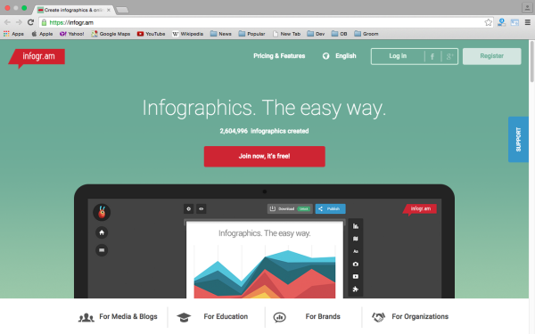 best free online tools for creating infographics  - infogram