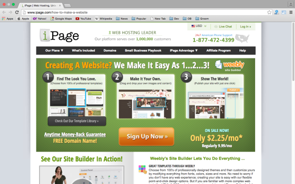 Top best website Builders for Year 2015  - ipage