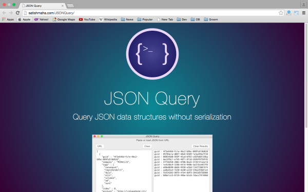 fresh best tools for year 2015 for web developers - jsonquery