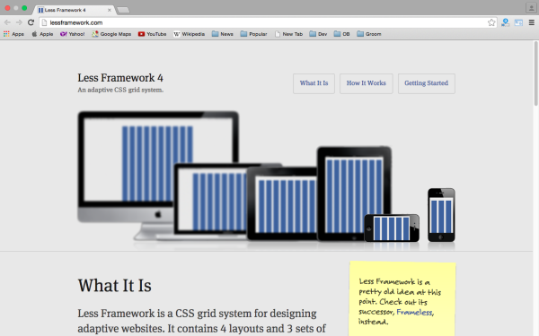 best tools and libraries for responsive web  lessframework