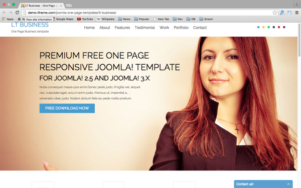 best free joomla templates for 2015  - lt-business