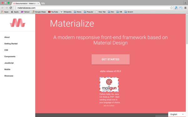 fresh best tools for year 2015 for web developers - materializecss