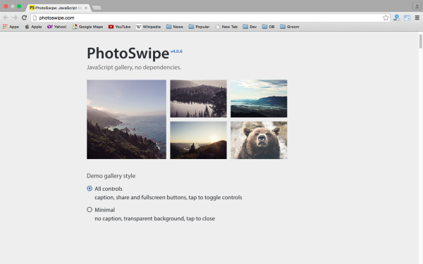 best libraries and tools for responsive web  - photoswipe