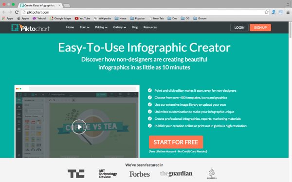 best free online tools for creating infographics  - piktochart