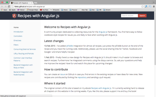 best resources and tutorials to learn AngularJS - reciepeangularjs