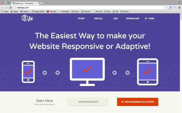 best libraries and tools for responsive web  restivejs