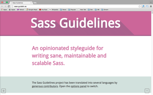 fresh best tools for year 2015 for web developers - sass-guideline