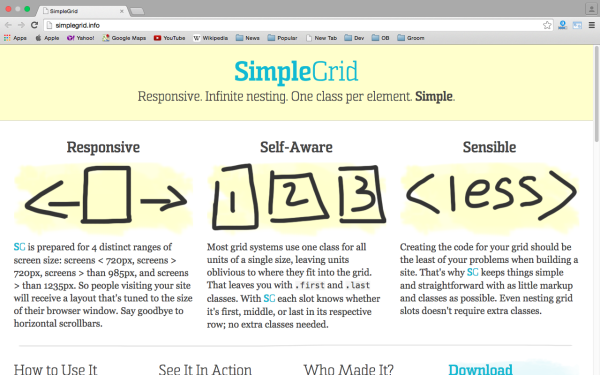 best tools and libraries for responsive web  - simplegrid