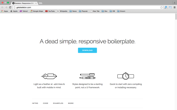 best tools and libraries for responsive web  skeleton