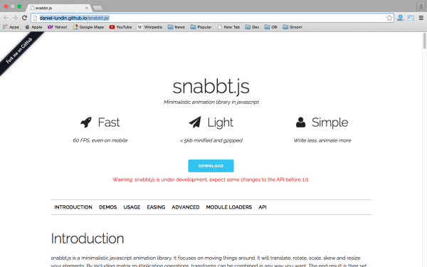 fresh best tools for year 2015 for web developers - snabbt.js