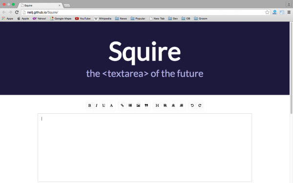 fresh best tools for year 2015 for web developers - squire