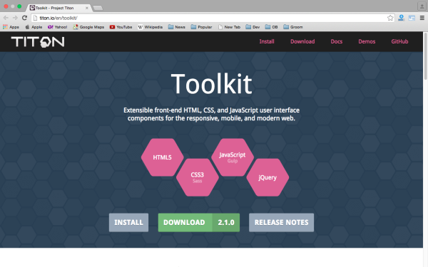 fresh best tools for year 2015 for web developers - titon-toolkit