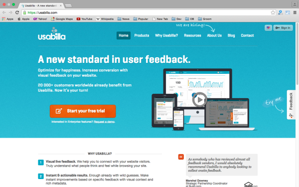best UX (User Experience) tools  - usabilla