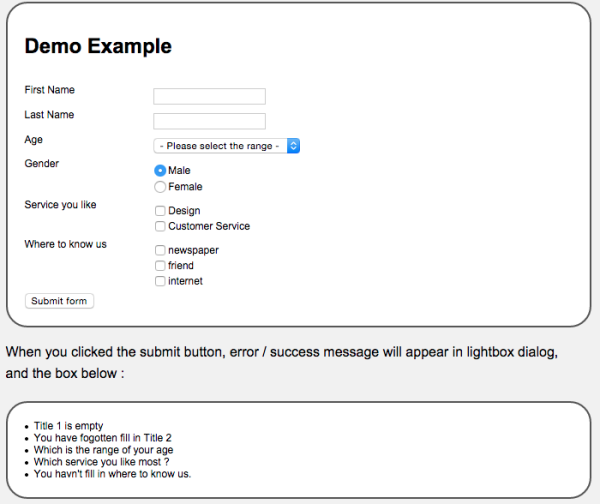 best jQuery form validation plugins  - validationform