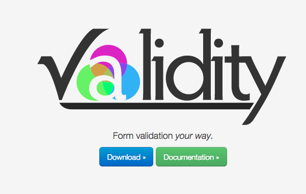 best jQuery form validation plugins  - validity