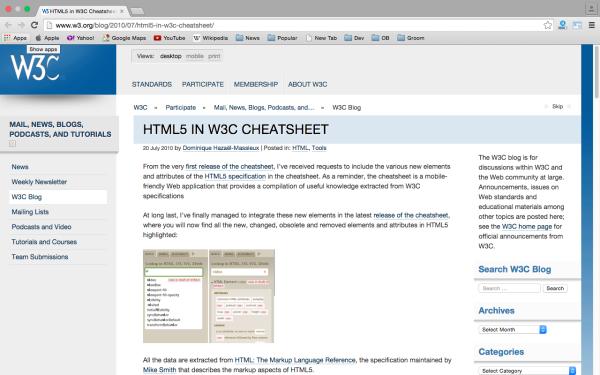 Best HTML5 cheat sheets - w3c-cheatsheet