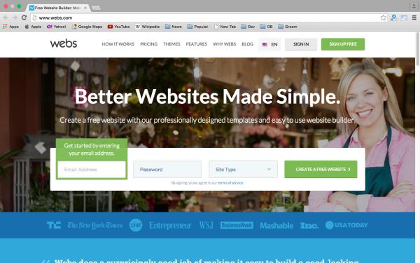 Top best website Builders for Year 2015  - webs