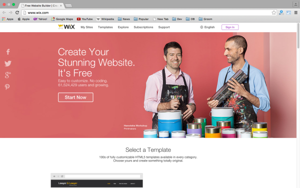 Top best website Builders for Year 2015  - wix
