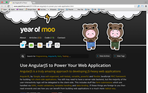 best resources and tutorials to learn AngularJS - yearofmoo